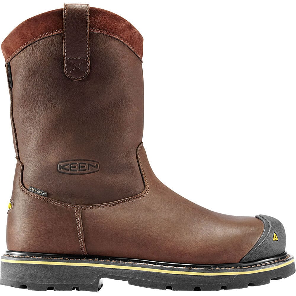 Image for KEEN Utility Men's Dallas Wellington Safety Boots - Dark Brown from bootbay