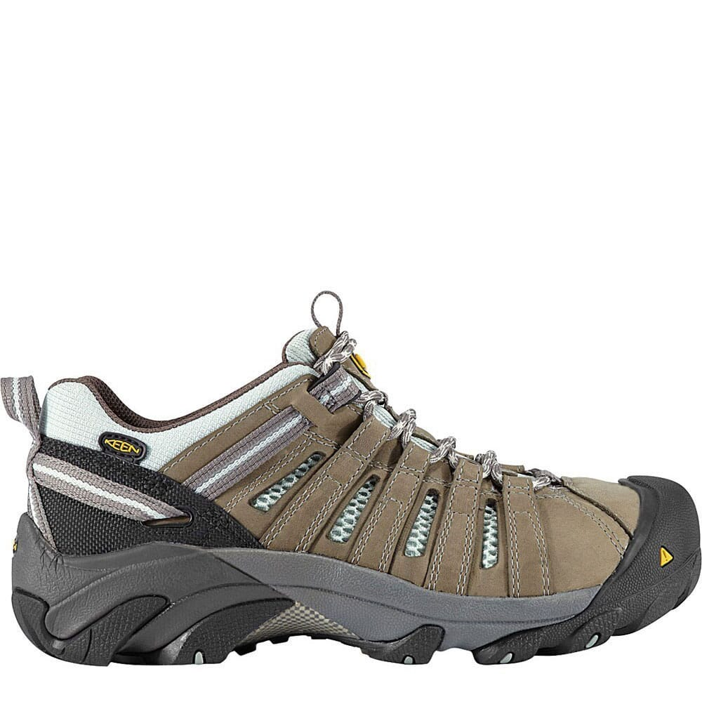 Image for KEEN Utility Women's Flint Low Safety Shoes - Drizzle/Surf Spray from bootbay
