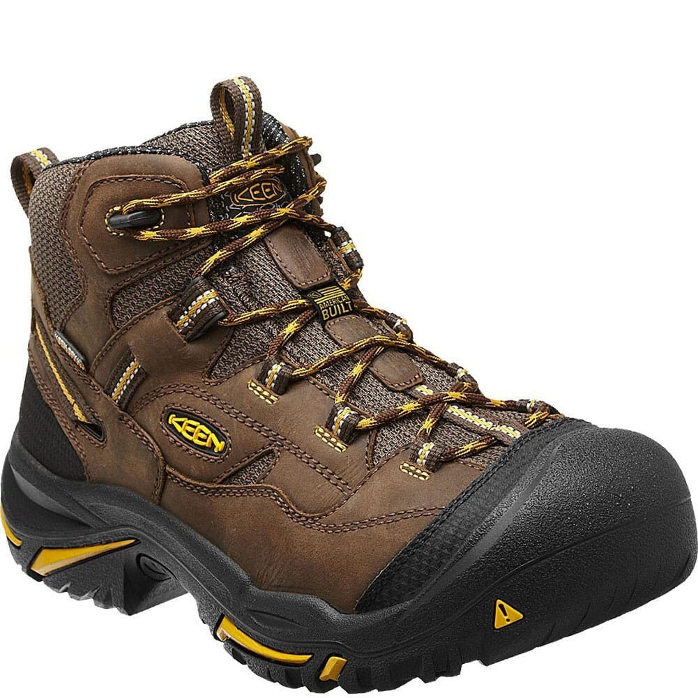 Image for KEEN Utility Men's Braddock Mid WP Safety Boots - Brown from bootbay