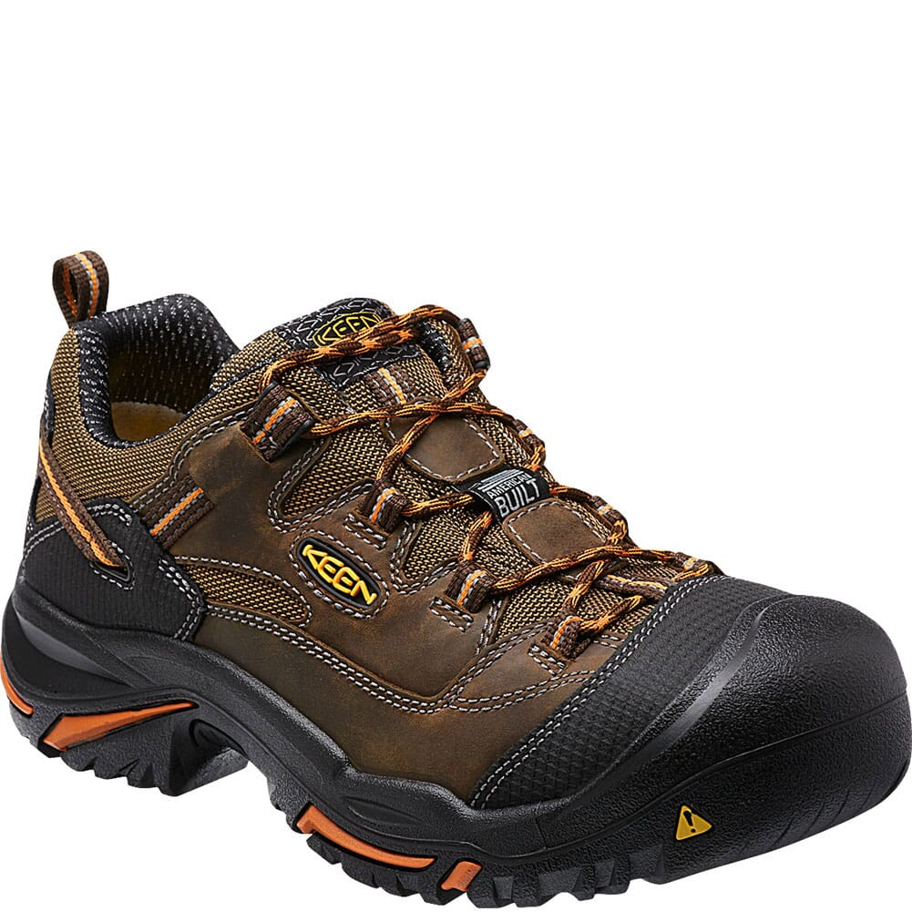 Image for KEEN Utility Men's Braddock Low Work Shoes - Cascade Brown from bootbay