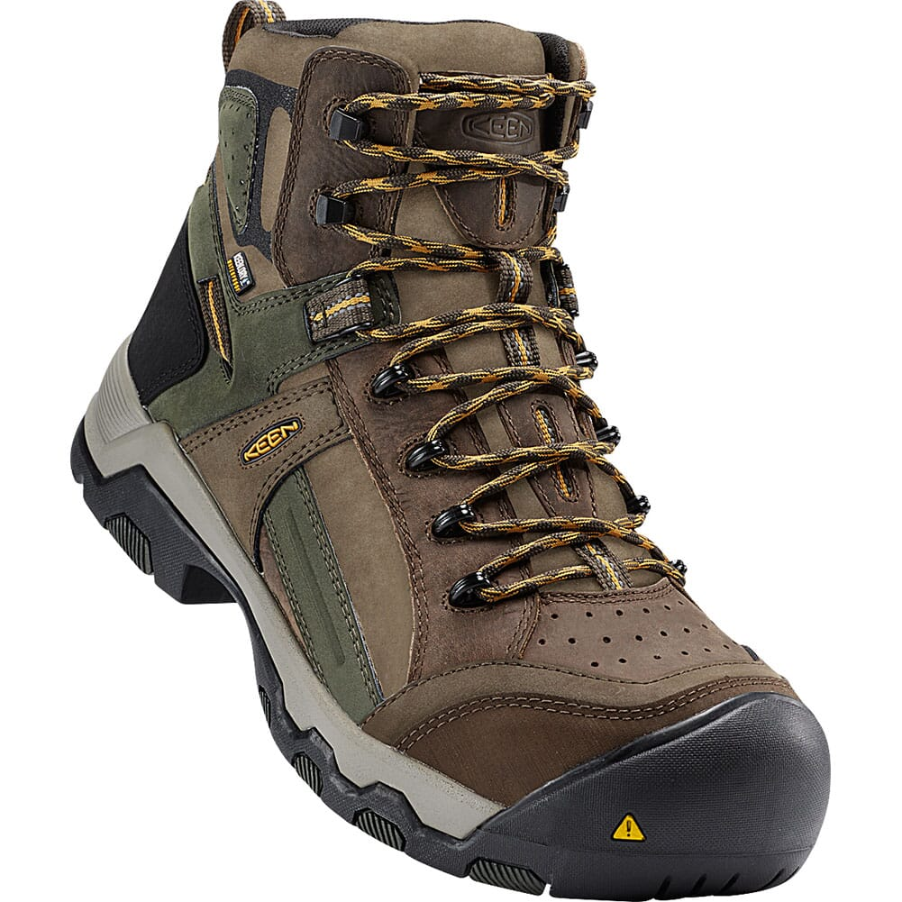 Image for KEEN Utility Men's Davenport Mid WP Safety Boots - Shitake/Frst Nght from bootbay
