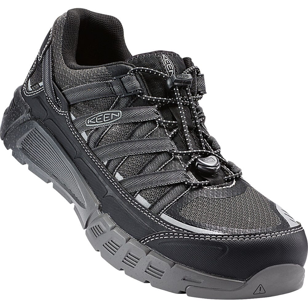 Image for KEEN Utility Men's Asheville AT ESD Safety Shoes - Black/Raven from bootbay