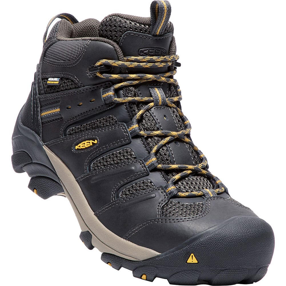 Image for KEEN Utility Men's Lansing Mid WP Safety Boots - Raven Tawney from bootbay