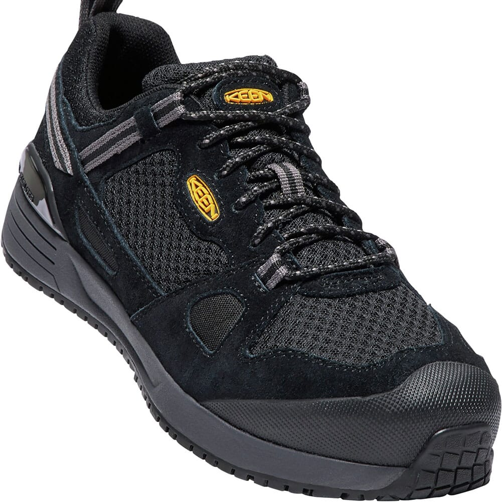 Image for KEEN Utility Men's Springfield Safety Shoes - Black/Steel Gray from bootbay