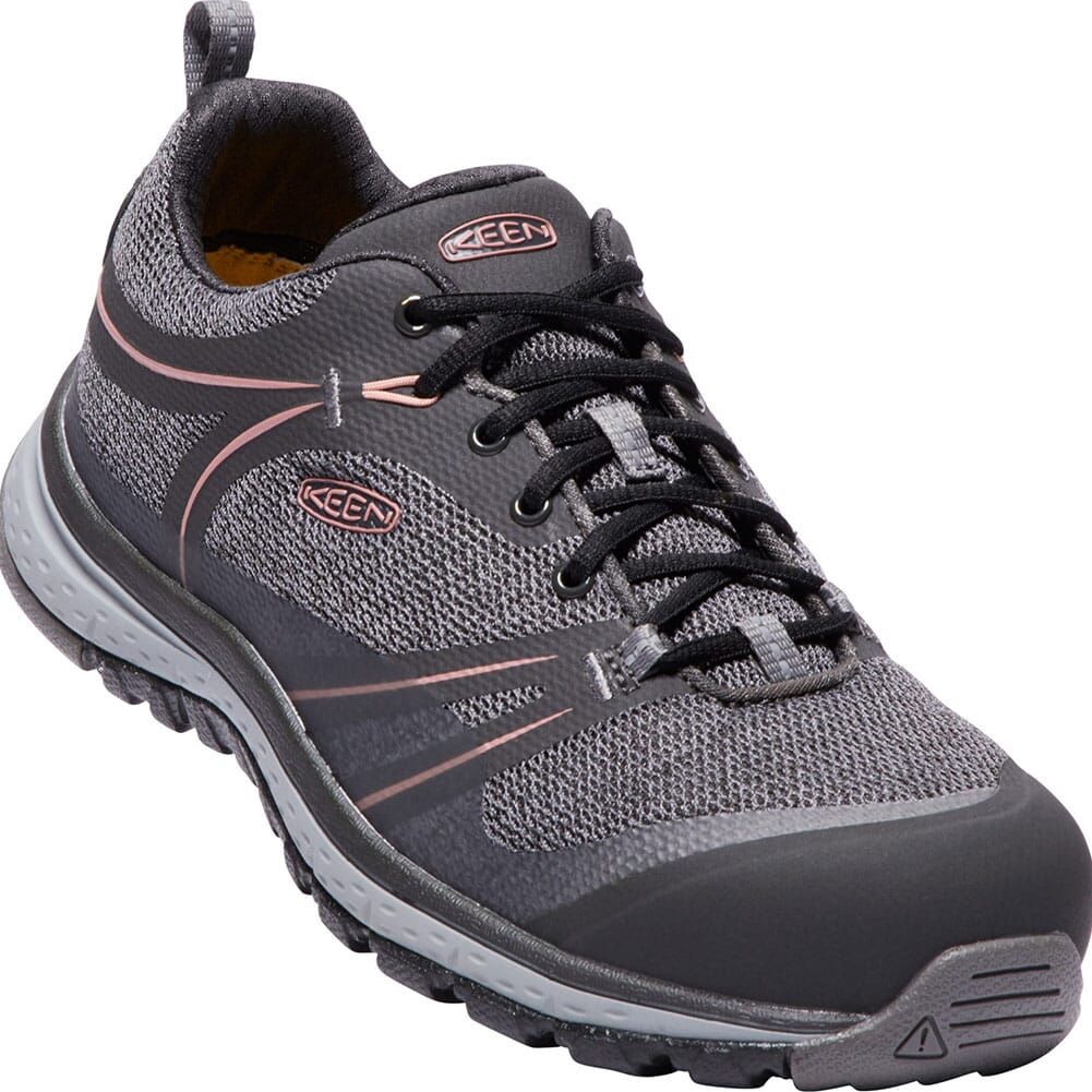 Image for KEEN Women's Sedona Low Safety Shoes - Raven/Rose Dawn from bootbay