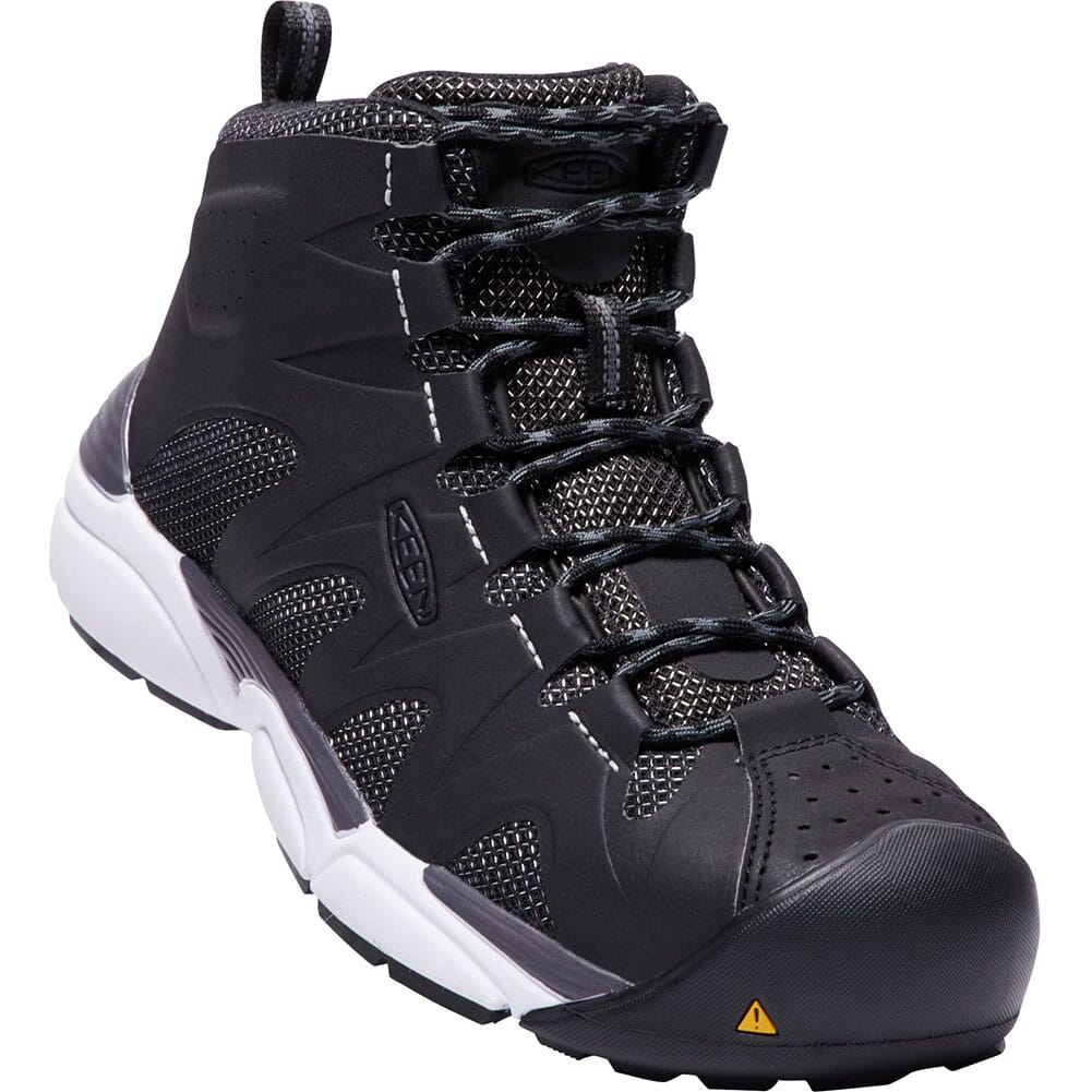 Image for KEEN Men's San Antonio Mid Safety Boots - Black/Silver from bootbay
