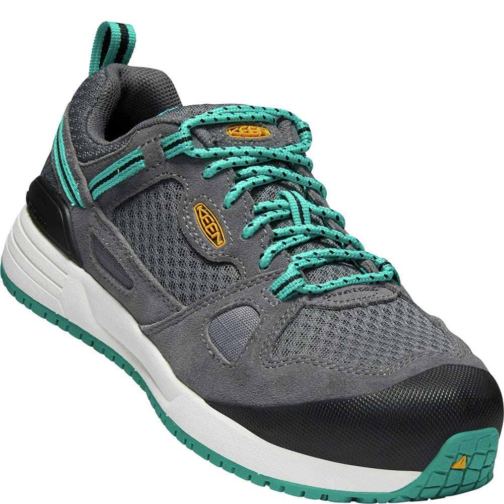 Image for KEEN Utility Women's Springfield Safety Shoes - Grey/Lake Blue from elliottsboots