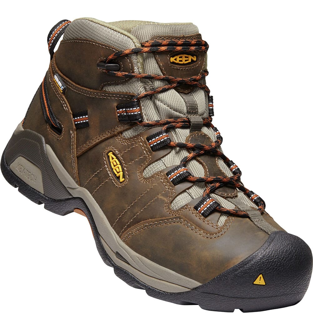 Image for KEEN Men's Detroit XT WP Work Shoes - Black Olive/Brown from bootbay