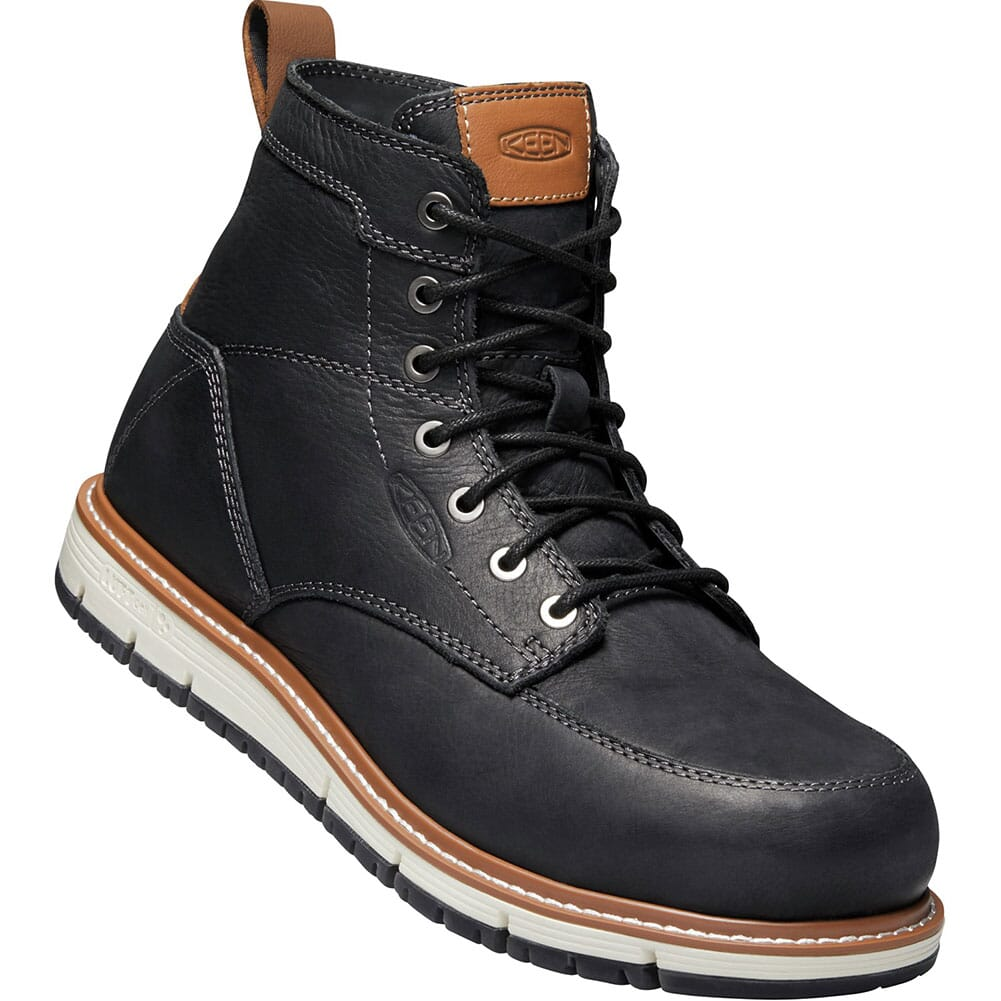 Image for KEEN Men's San Jose Safety Boots - Black/Caramel Cafe from bootbay