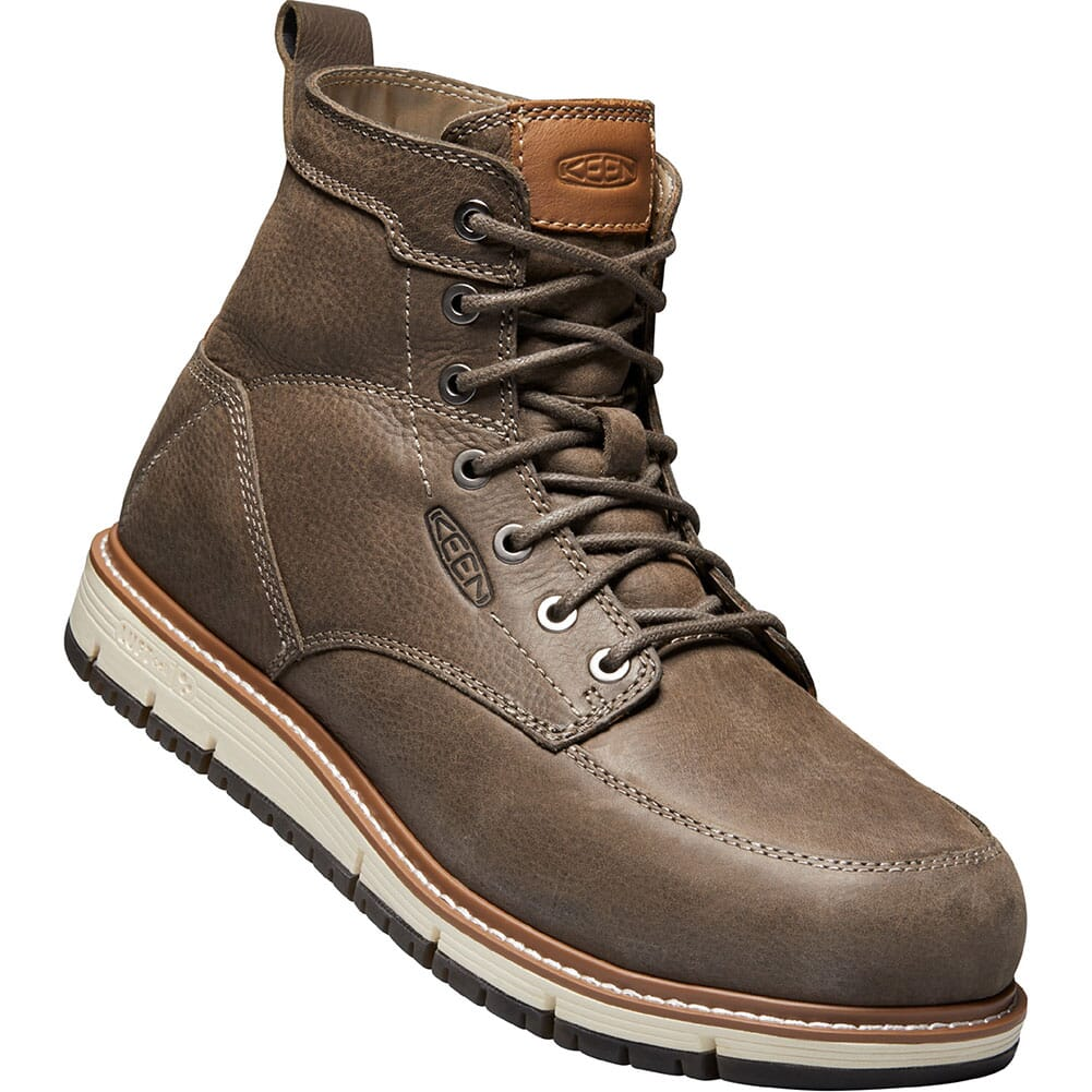 Image for KEEN Men's San Jose Safety Boots - Falcon/Caramel Cafe from bootbay