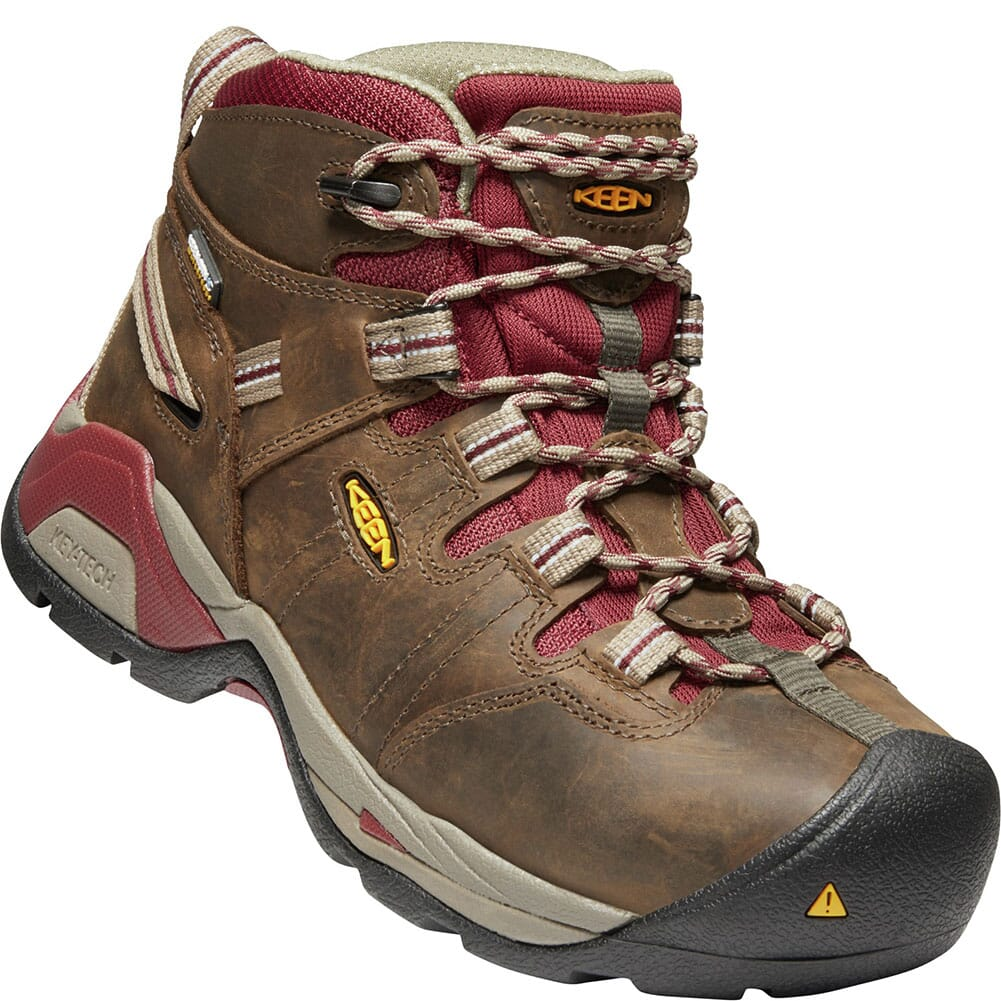 Image for KEEN Women's Detroit XT WP Safety Boots - Black Olive/Tawny Red from elliottsboots