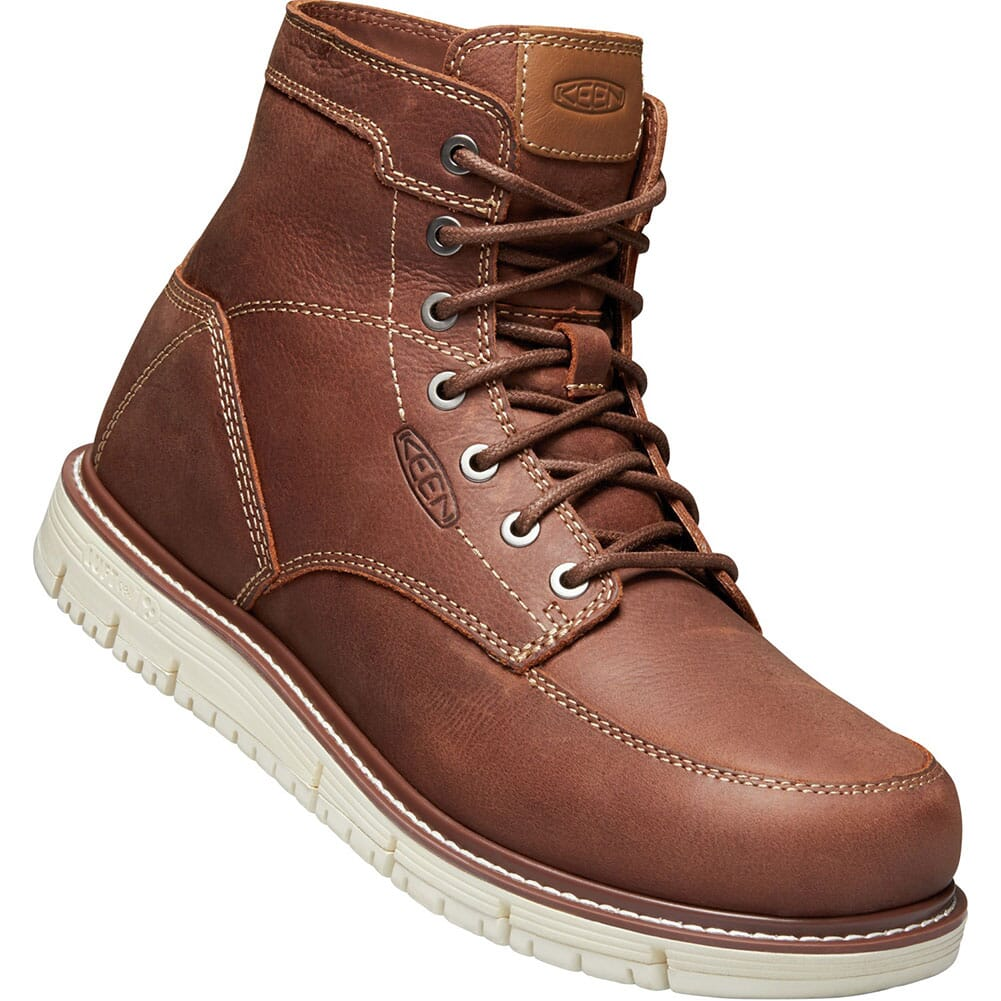 Image for KEEN Men's San Jose Work Boots - Gingerbread/Off White from bootbay