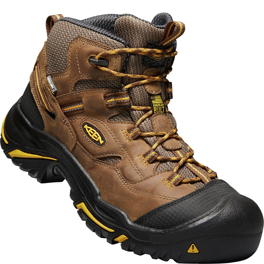 Image for KEEN Utility Men's Braddock Mid Work Boots - Cascade Brown/Tawny Olive from bootbay