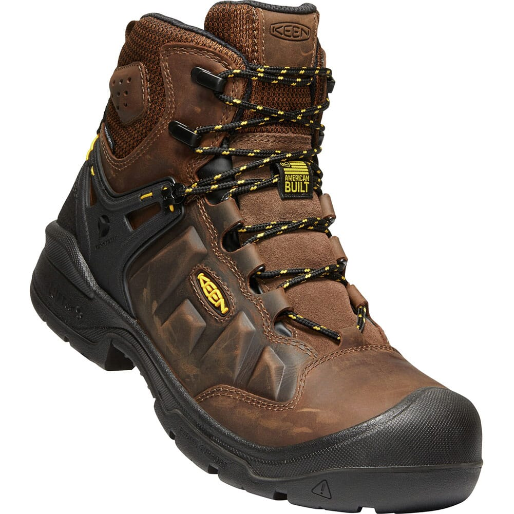 Image for KEEN Men's Dover Safety Boots - Dark Earth/Black from bootbay