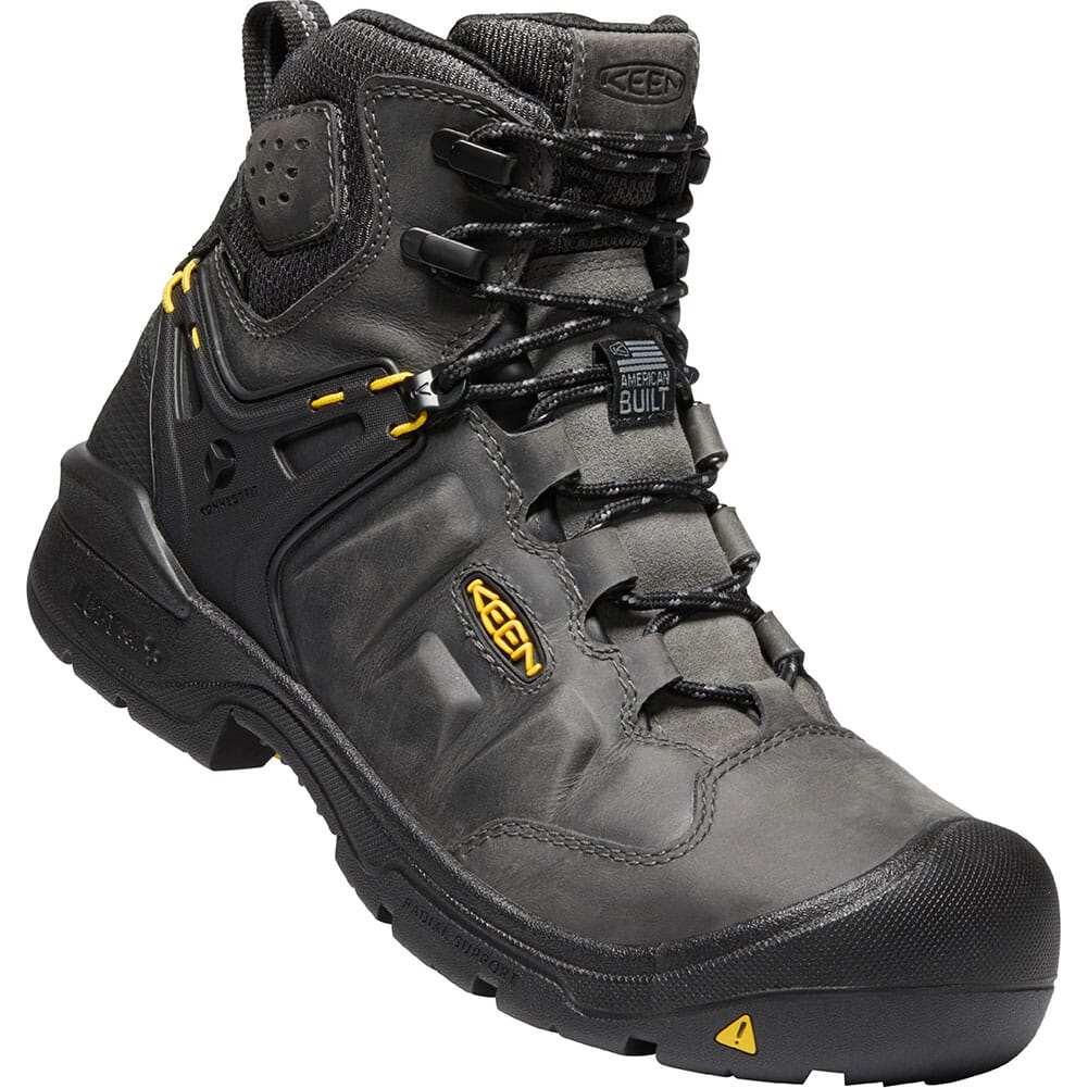 Image for KEEN Men's Dover Safety Boots - Magnet/Black from bootbay