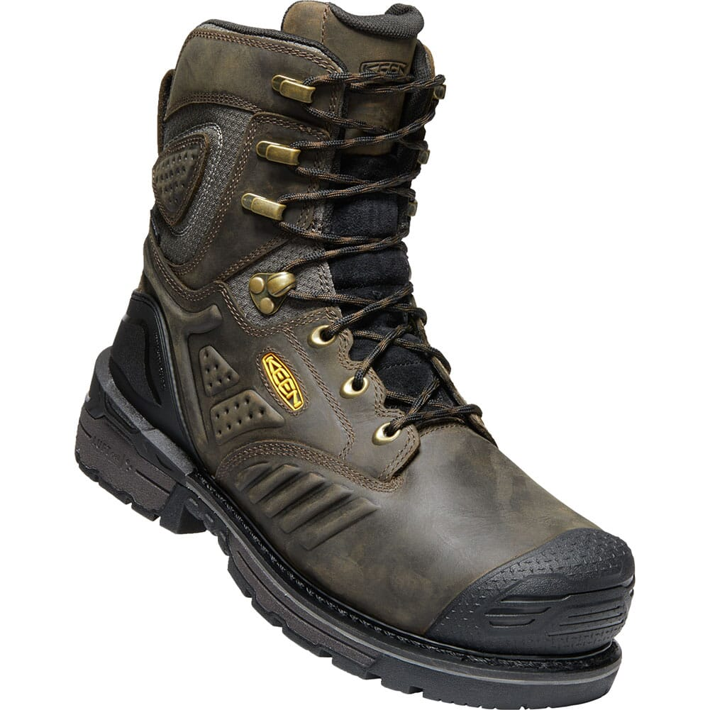 Image for KEEN Men's Philadelphia 8IN WP Safety Boots - Brown/Black from bootbay