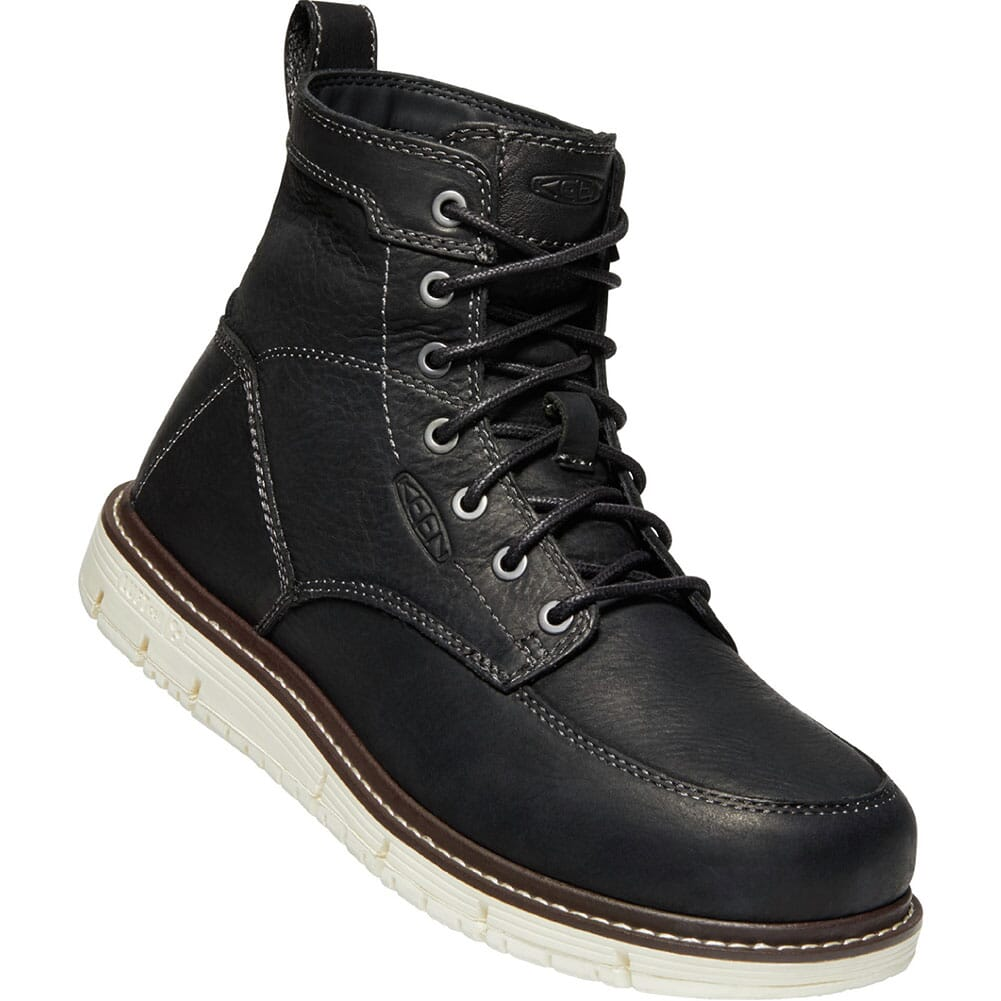 Image for KEEN Utility Men's San Jose Work Boots - Black/Off White from bootbay