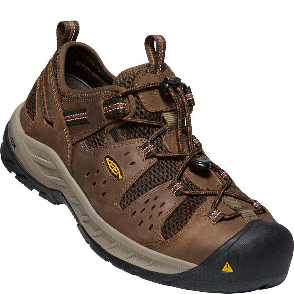 Image for KEEN Utility Men's Atlanta Cool II EH Safety Shoes - Shitake/Rust from bootbay