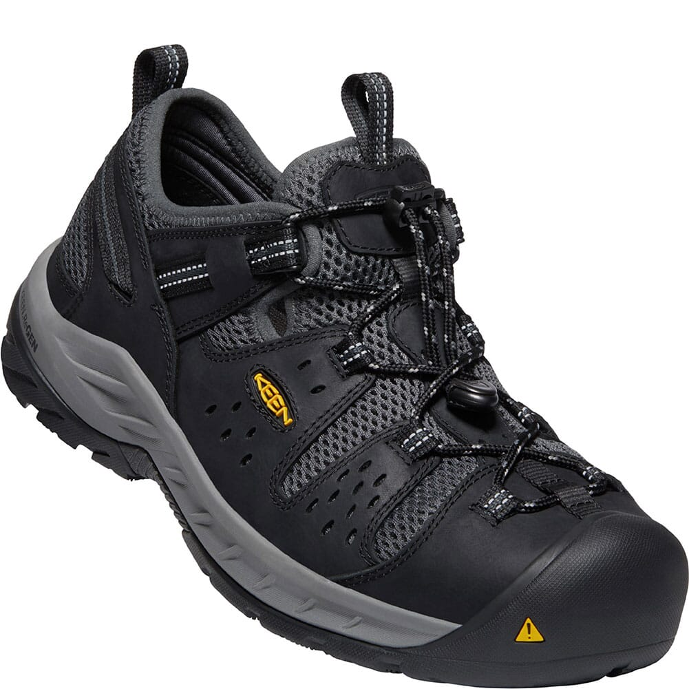 Image for KEEN Utility Men's Atlanta Cool II EH Safety Shoes - Black/Dark Shadow from bootbay
