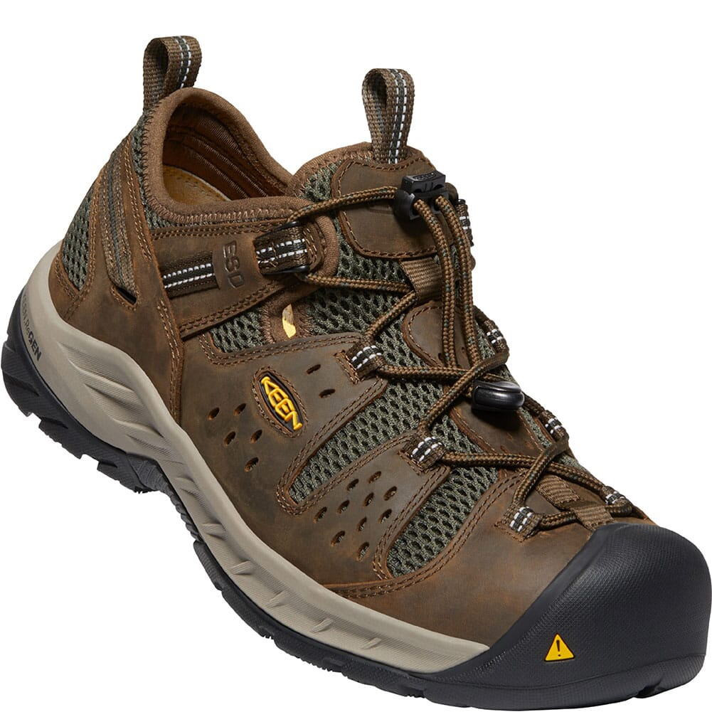 Image for KEEN Utility Men's Atlanta Cool II ESD Work Shoes - Cascade Brown/Forest from bootbay