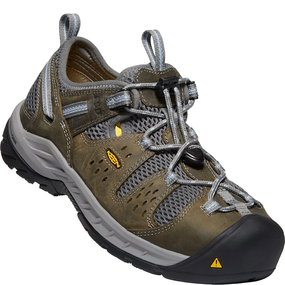 Image for KEEN Utility Women's Atlanta Cool II ESD Safety Shoes - Gargoyle/Blue Fo from elliottsboots