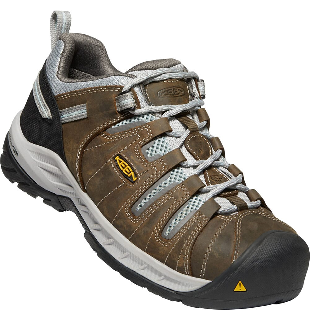 Image for KEEN Utility Women's Flint II Safety Shoes - Cascade Brown/Surf Spray from elliottsboots