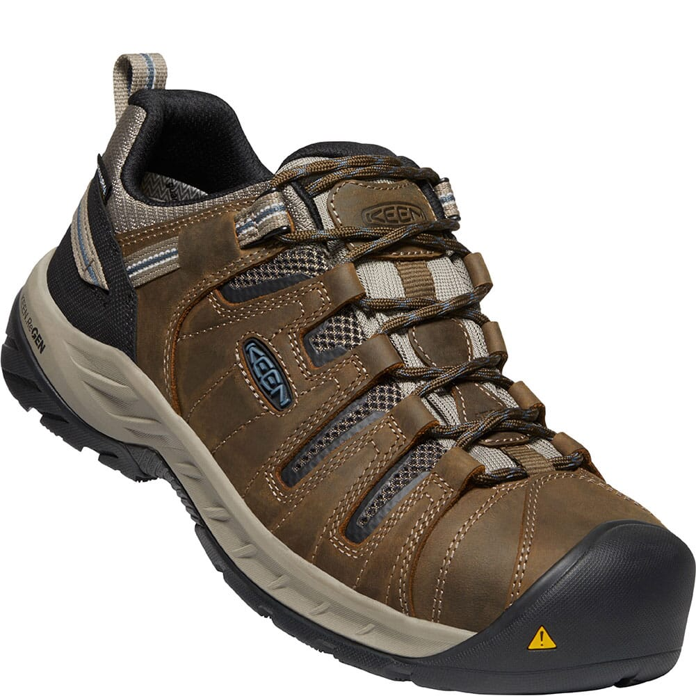 Image for KEEN Utility Men's Flint II WP Safety Shoes - Cascade Brown/Orion Blue from bootbay