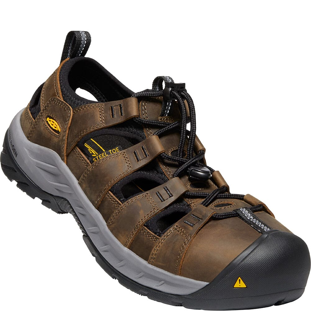 Image for KEEN Utility Men's Atlanta Cooler EH Safety Shoes - Cascade Brown/Black from bootbay