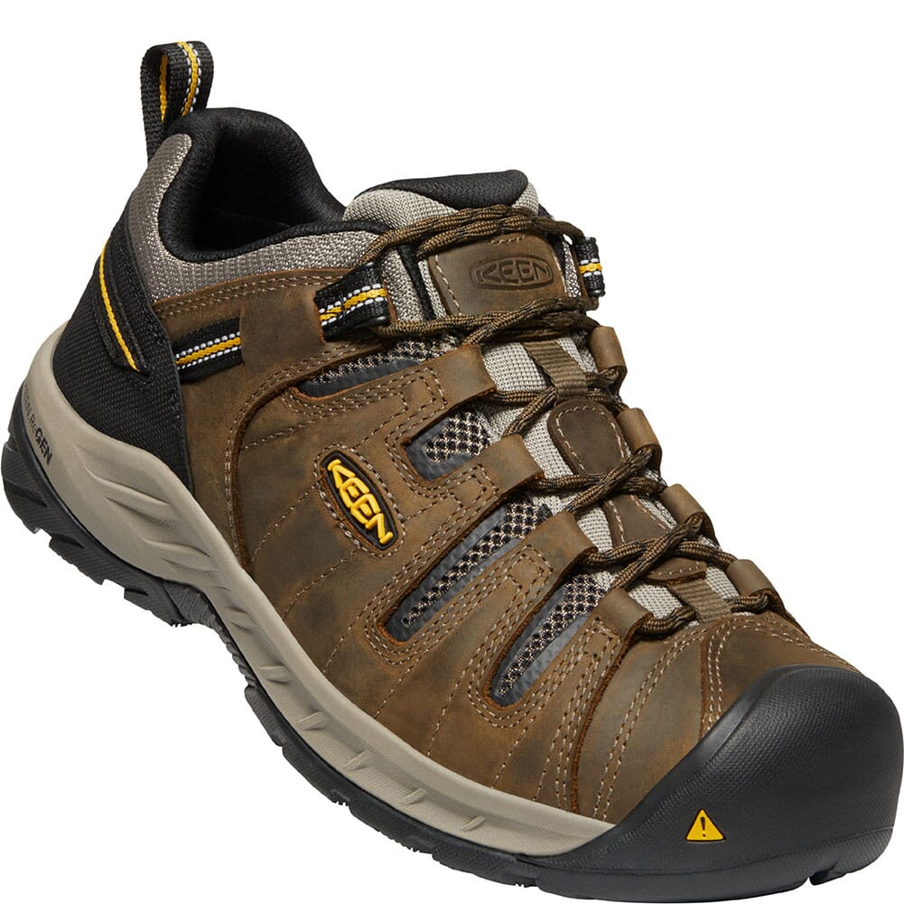 Image for KEEN Utility Men's Flint II EH Work Shoes - Cascade Brown/Golden Rod from bootbay