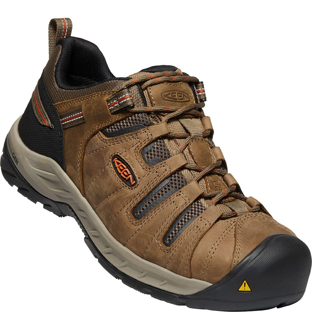 Image for KEEN Utility Men's Flint II Safety Shoes - Shitake/Rust from bootbay