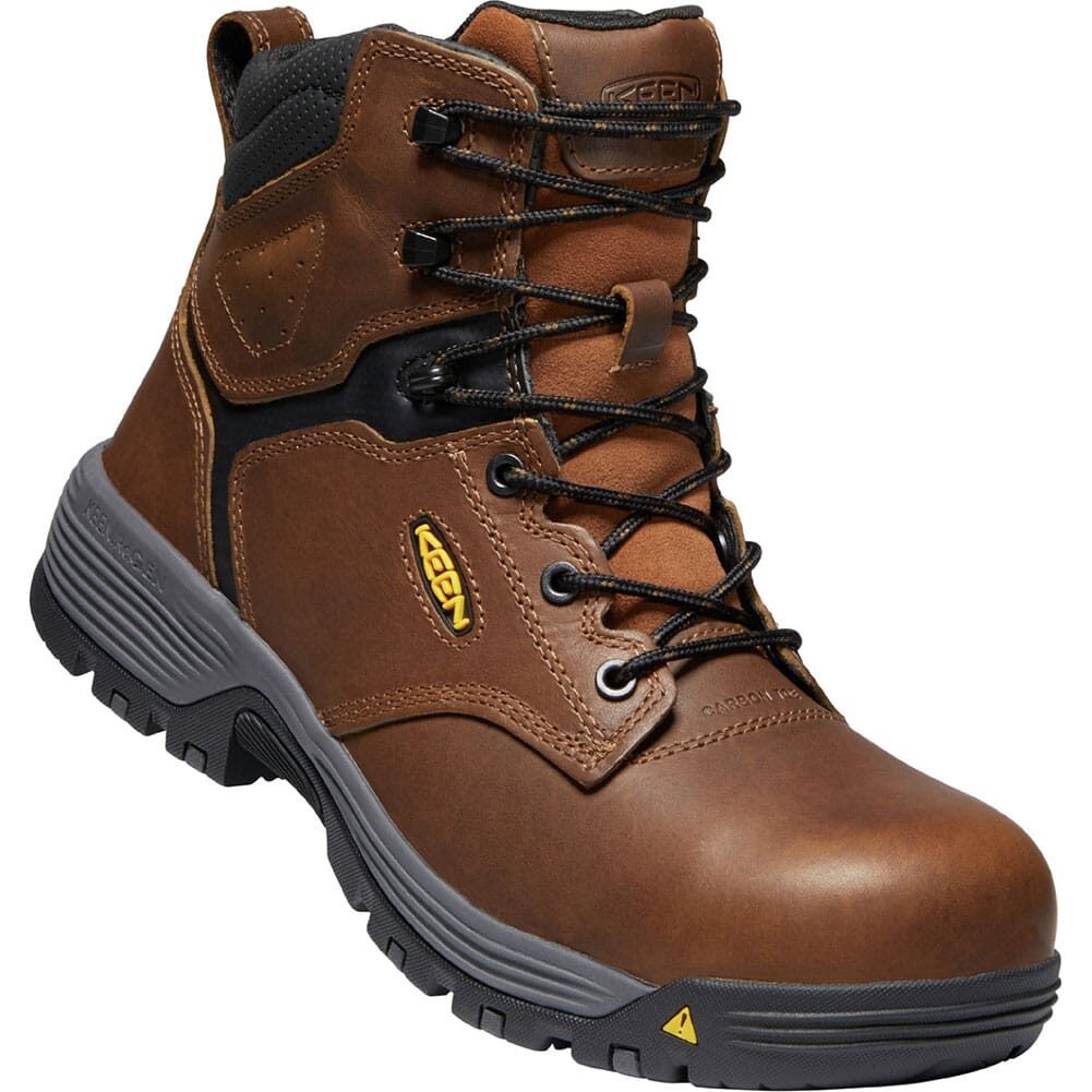 Image for KEEN Utility Men's Chicago WP Safety Boots - Tobacco/Black from bootbay