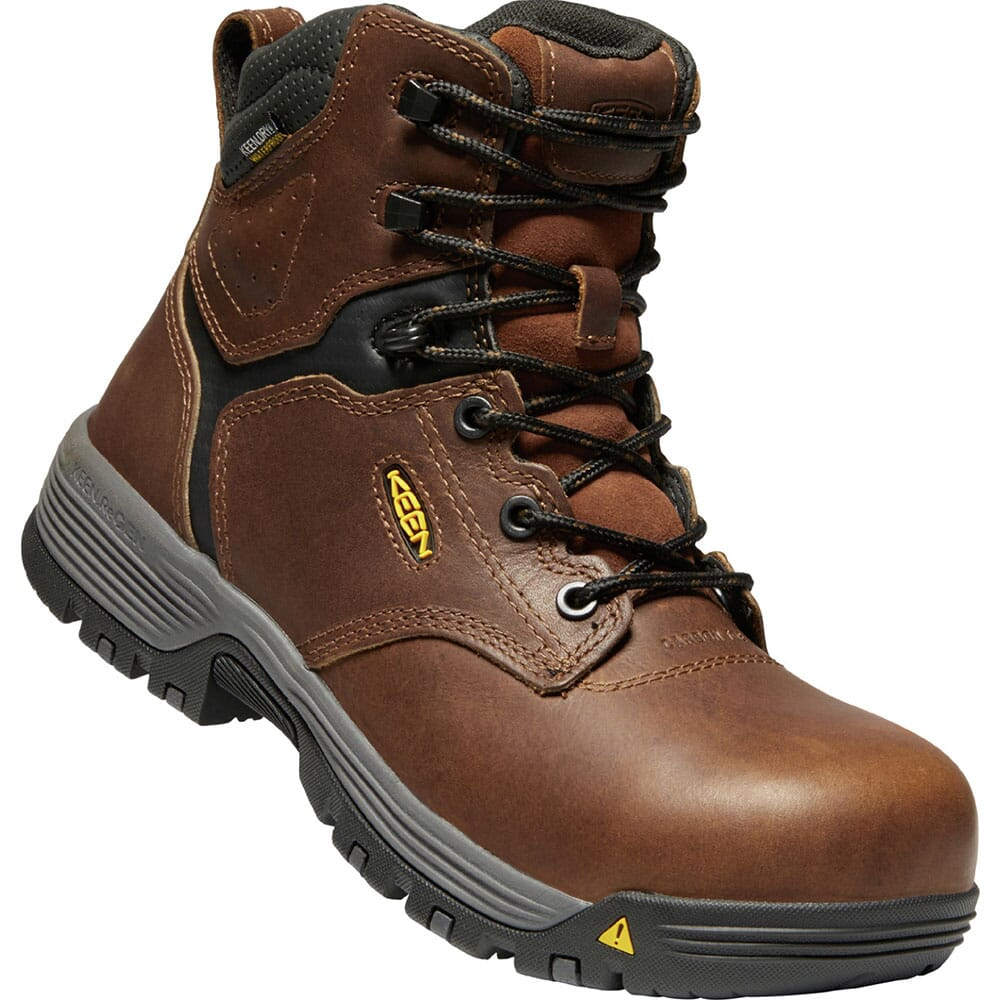 Image for KEEN Utility Women's Chicago WP Safety Boots - Tobacco/Black from bootbay
