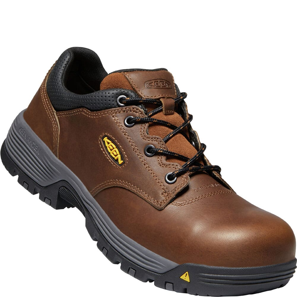 Image for KEEN Utility Men's Chicago WP Safety Shoes - Tobacco/Black from bootbay