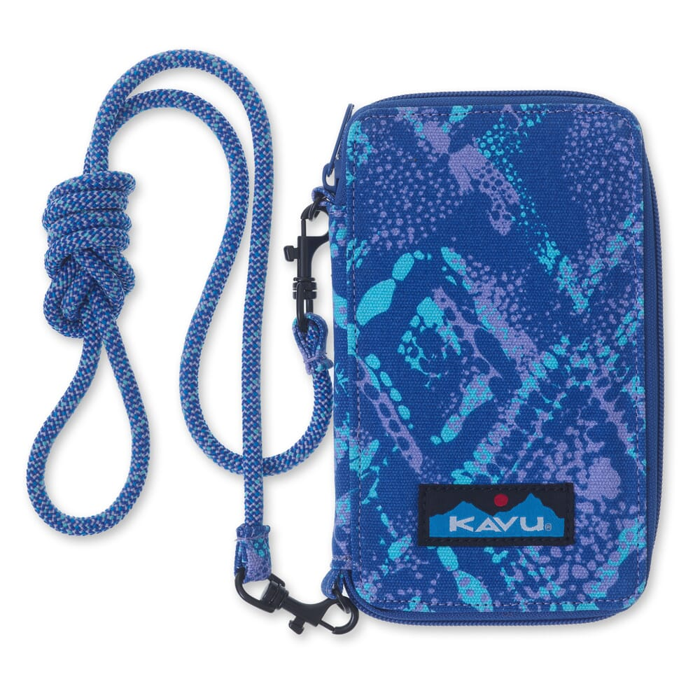 Image for Kavu Women's Go Time Bi-Fold Wallet - Ocean Overlay from bootbay