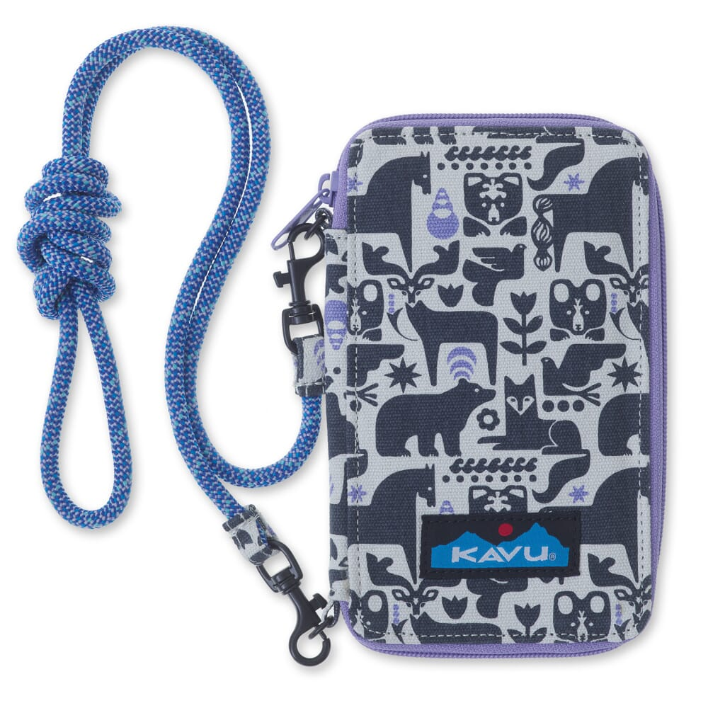 Image for Kavu Women's Go Time Bi-Fold Wallet - Charcoal Fable from bootbay