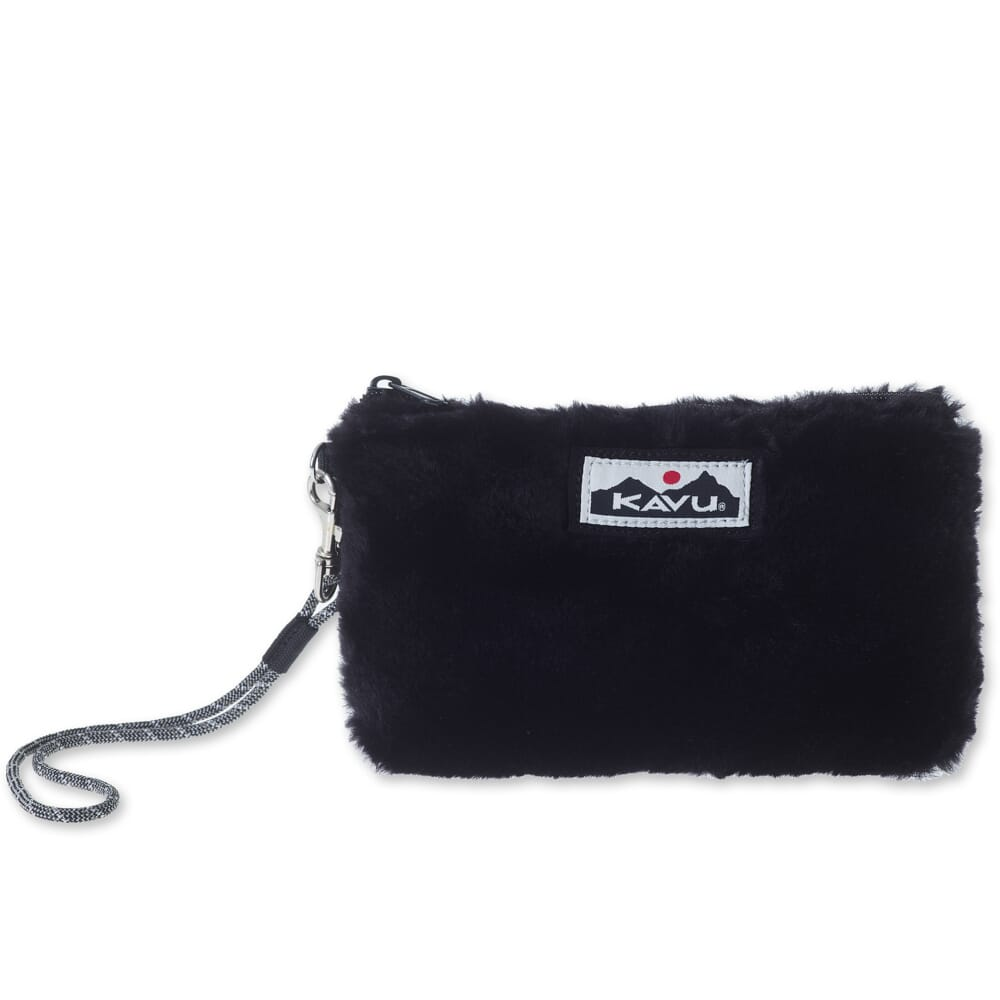 Image for Kavu Women's All My Plush Clutch Bag - Black from bootbay