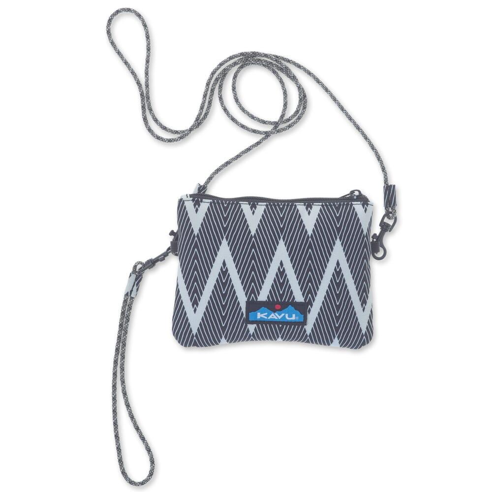 Image for KAVU Women's Renrose Cross Body Wallet - Black Zig Zag from bootbay