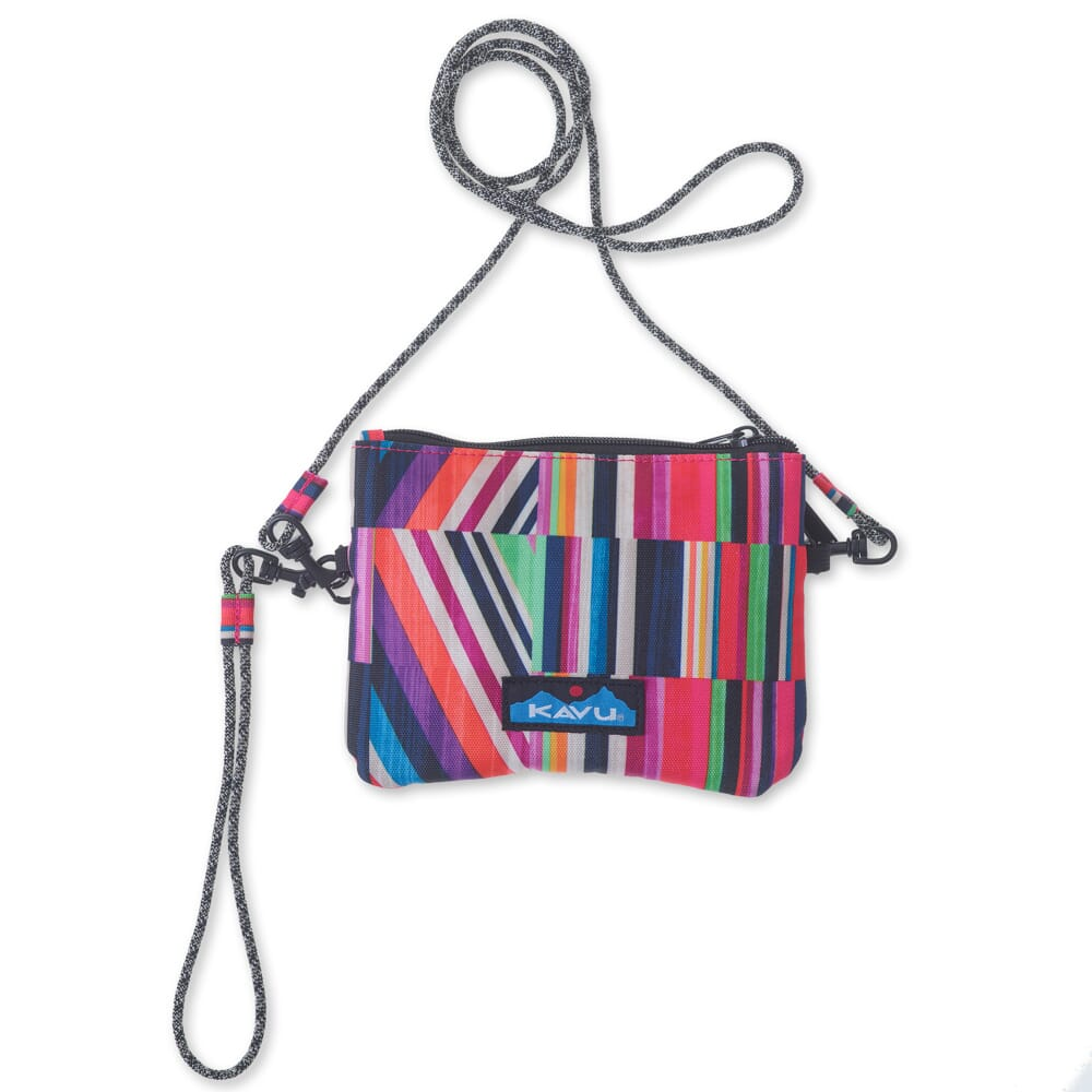 Image for KAVU Women's Renrose Cross Body Wallet - Jewel Stripe from bootbay