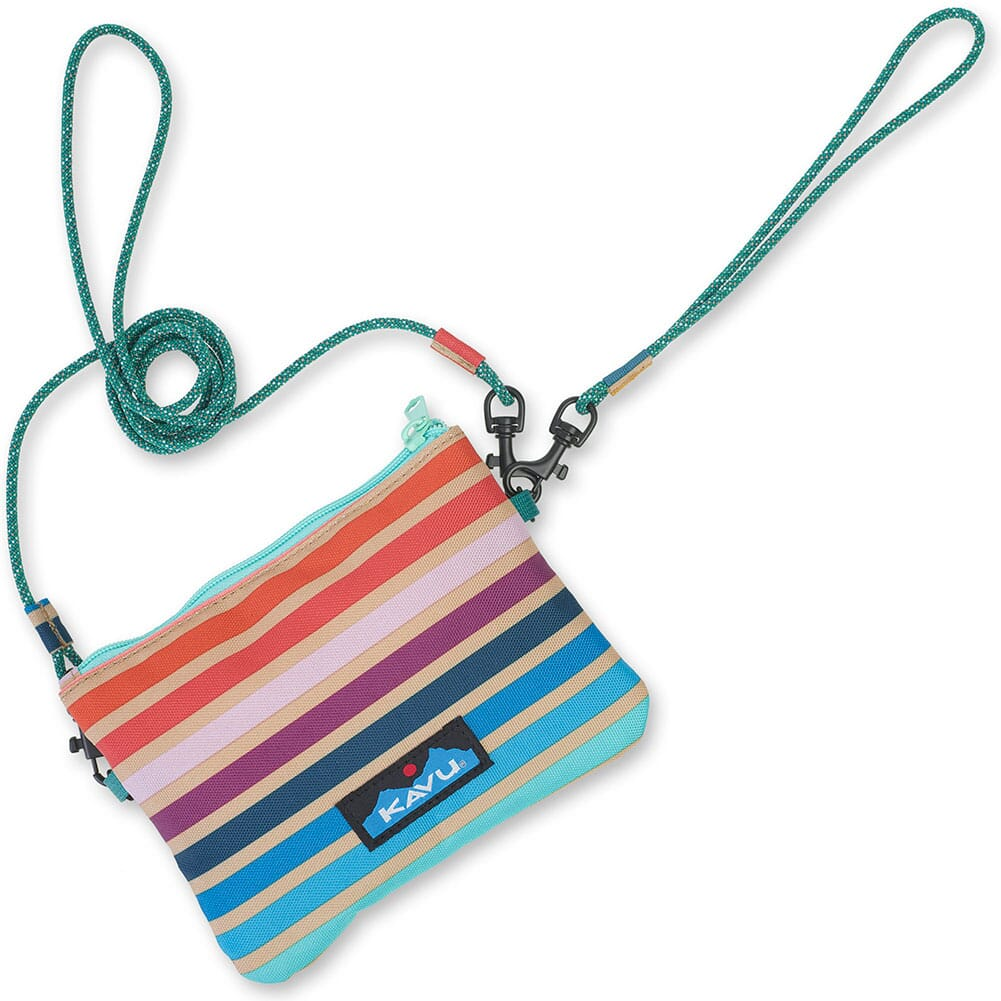 Image for KAVU Women's Renrose Cross Body Wallet - Summer Stripe from bootbay