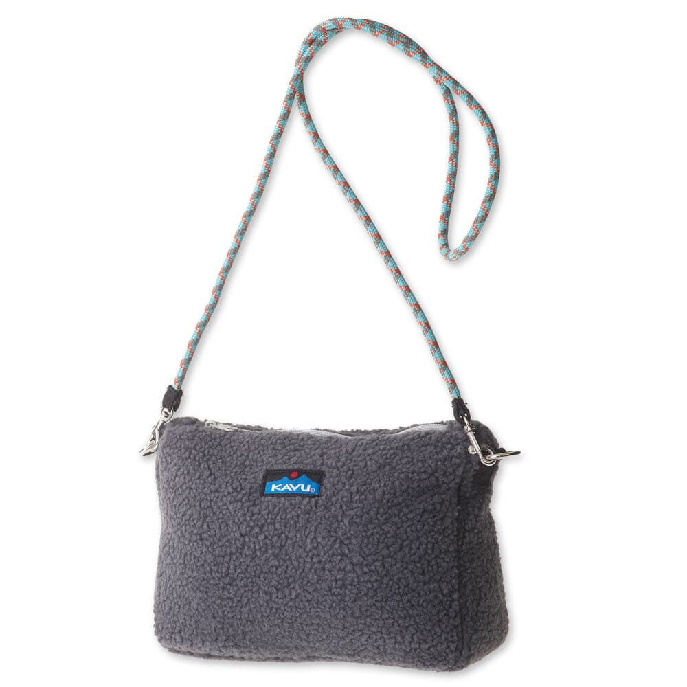 Image for KAVU Women's So Fleecey Crossbady Bag - Charcaol from bootbay