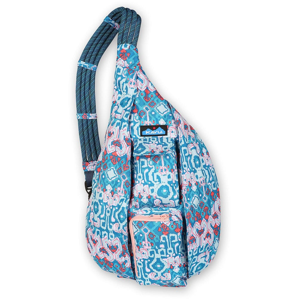 Image for Kavu Women's Rope Sling Bag - Aqua Montage from bootbay