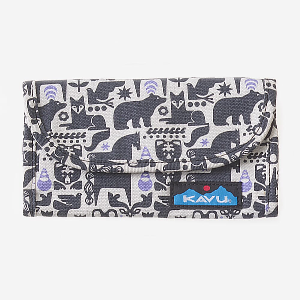 Image for Kavu Women's Big Spender Wallet - Charcoal Fable from bootbay
