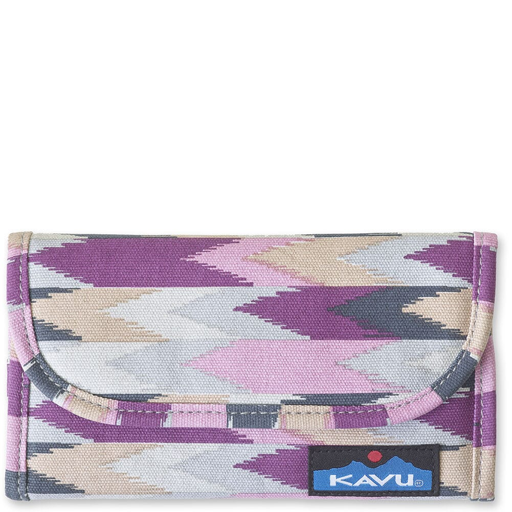 Image for Kavu Women's Big Spender Tri-Fold Wallet - Berry Palette from bootbay