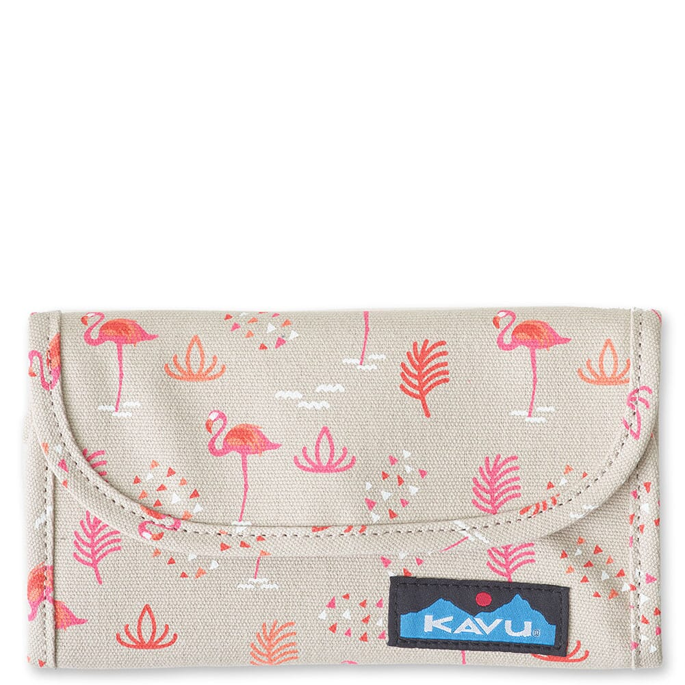 Image for Kavu Women's Big Spender Tri-Fold Wallet - Chillin Flamingo from bootbay