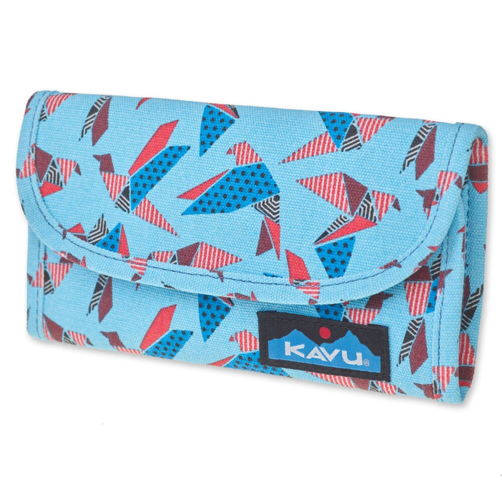 Image for Kavu Women's Big Spender Tri-fold Wallet - Paper Flock from bootbay