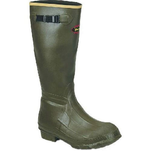 Image for Lacrosse Men's Burly Classic Rubber Boots - OD Green from bootbay