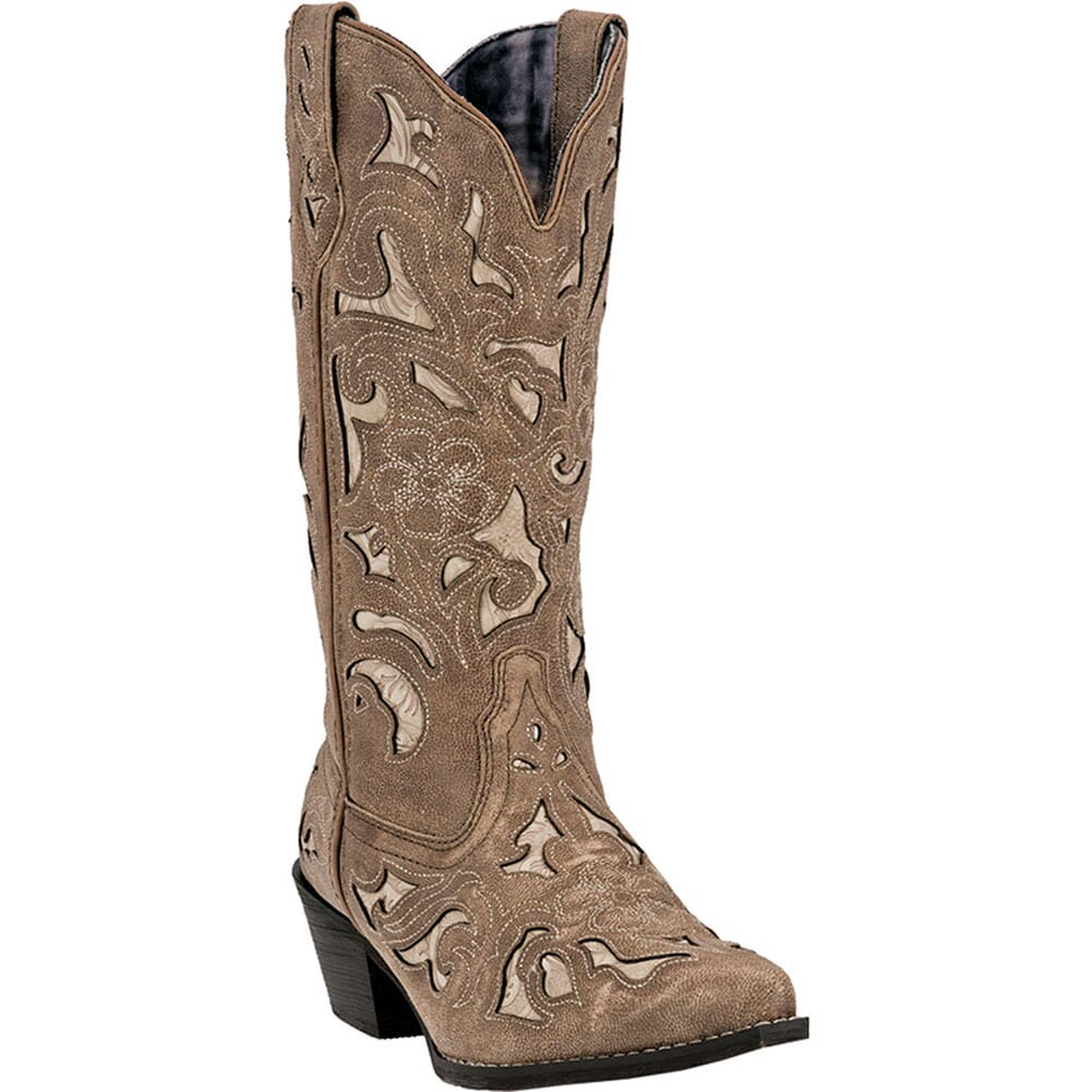 Image for Laredo Women's Sharona Western Boots - Tan Crackle from bootbay