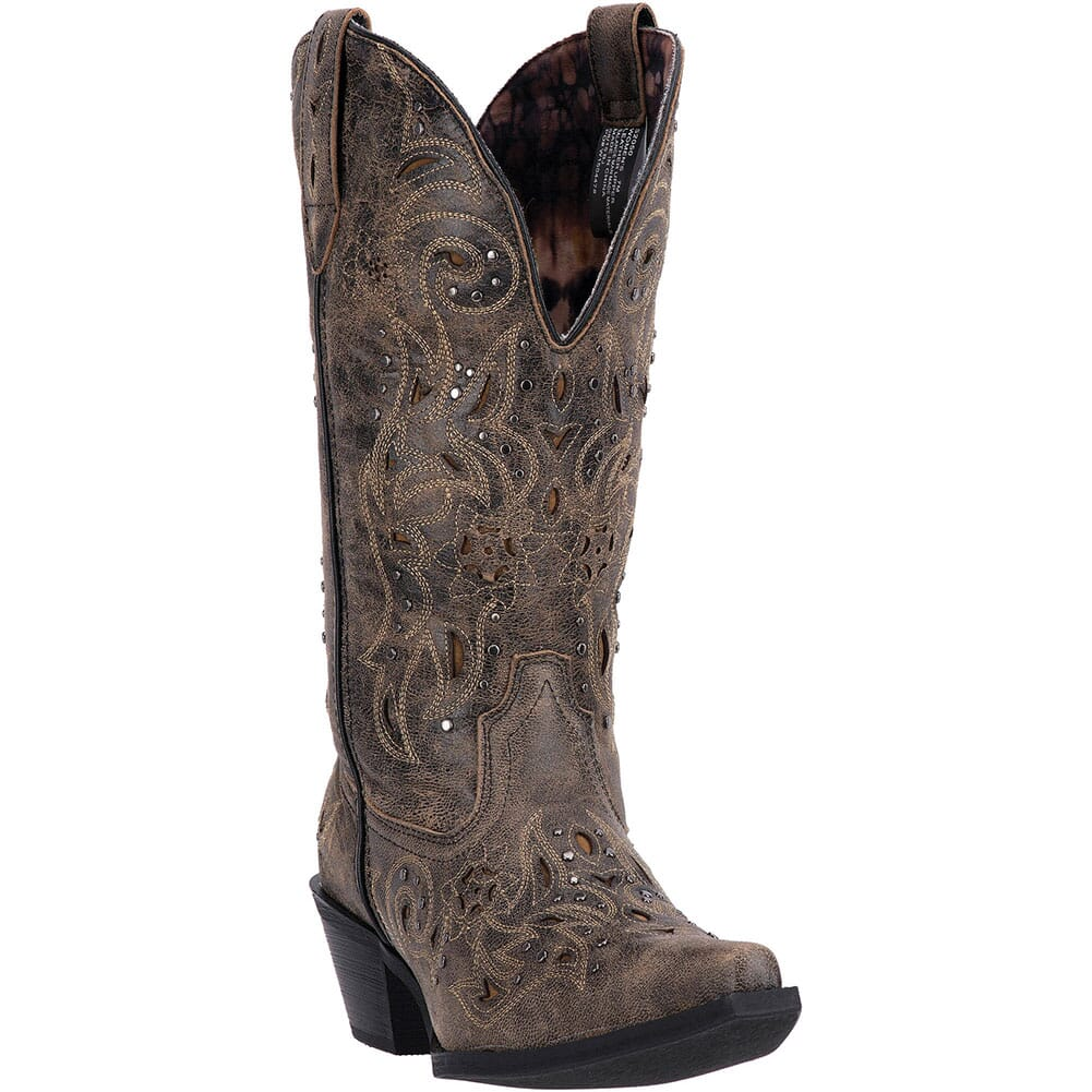 Image for Laredo Women's Vanessa Western Boots - Black/Tan from bootbay