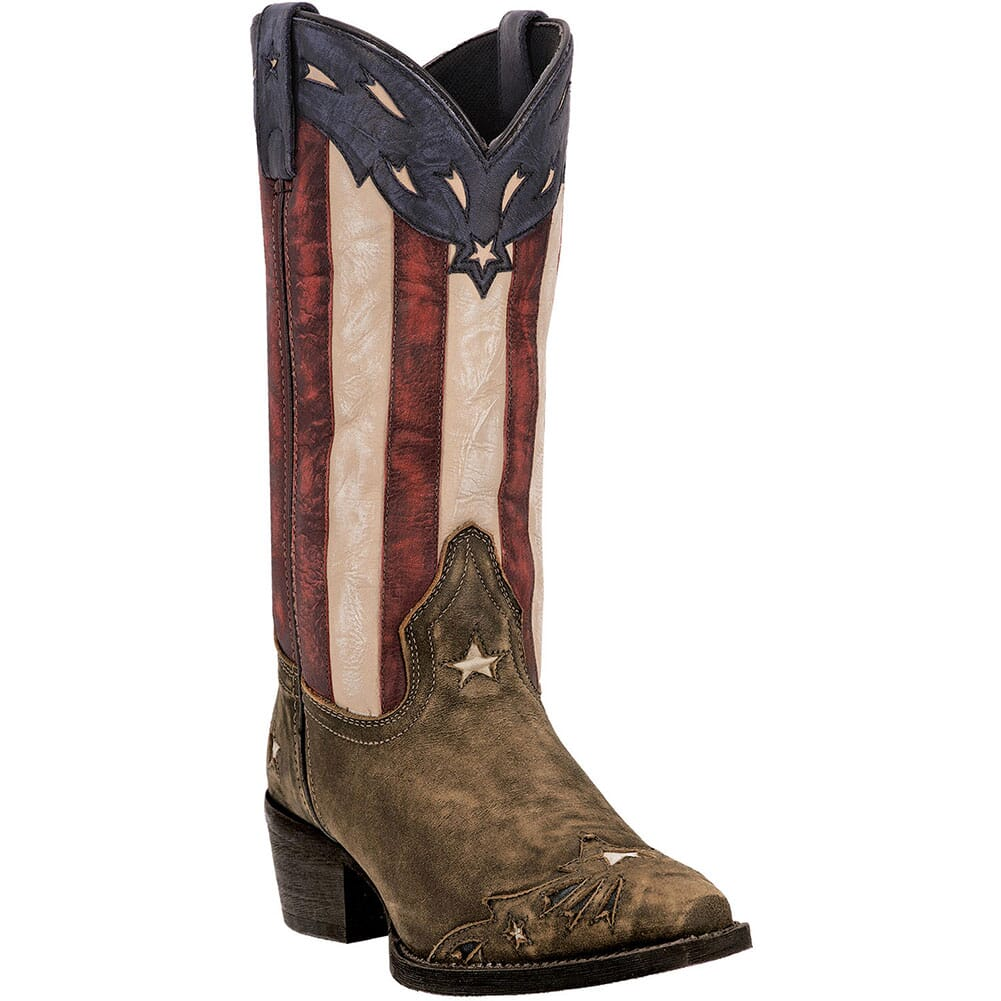 Image for Laredo Women's Keyes Western Boots - Red/White/Blue from elliottsboots