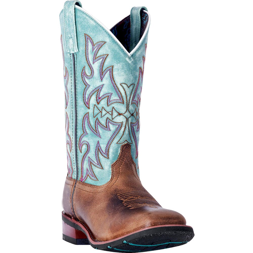 Image for Laredo Women's Anita Western Boots - Blue/Brown from elliottsboots